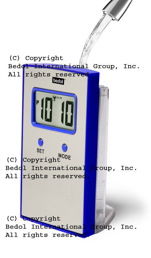 Traveler Alarm The Bedol Water Clock Blue